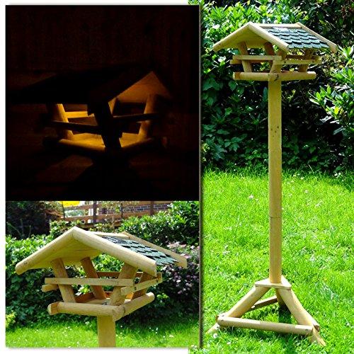 953-Vogelhaus-Vogelfutterhaus-mit-Stnder-Led-Solarbeleuchtung-Holzvogelhaus