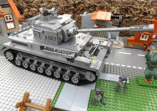 Modbrix 8210 – ✠ Bausteine Panzer IV Ausf. F, 1000 Teile, inkl. custom Wehrmacht Soldaten aus original Lego© Teilen ✠ - 6