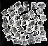 Edel-Depot Calcit weiss, 100 g. optischer Calcit, Doppelspat, Rohsteine (8-10 Stück)