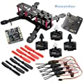 powerday®DIY QAV250 ZMR250 Quadcopter Full Carbon Frame Kit &Emax MT2204 2300KV Motor &Simonk 12A ESC &NAZE32 6DOF Flight Controller&Matek Power Hub&5045 2-blade propeller&Spare Parts pack by Rcmodelpart