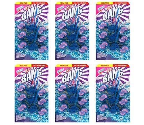 Cillit Bang BLUE WAVE 6 WC Blauspüler Blüten Frische TRIO, WC-Spüler 6er Pack