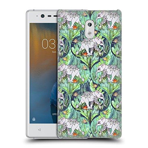 Head Case Designs Offizielle Micklyn Le Feuvre Baby Elefant Und Dschungel-Abenteuer Tiere Ruckseite Hülle für Nokia 3