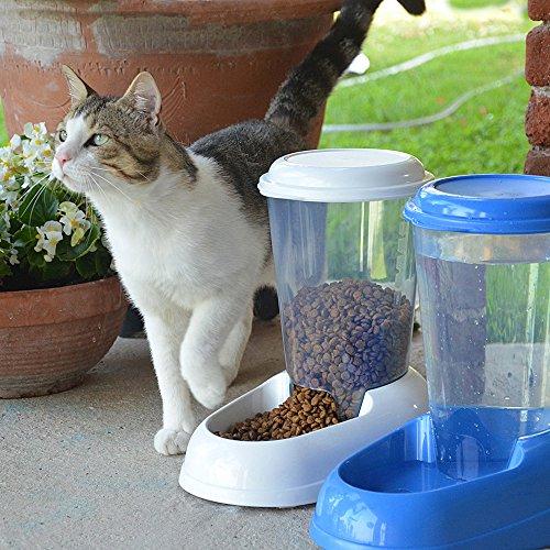 Ferplast 71970099W1 Futterspender ZENITH, für Katzen und Hunde, Maße: 29,2 x 20,2 x 28,8 cm, 3 Liter, weiss - 6