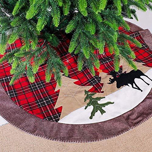 HSZH Weihnachtsbaum-Rock 1PC 42inch, Feiertags-Baum-Verzierungs-Weihnachtsbaum-Rock für Weihnachtstag