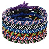 CheersLife Handmade Braided Friendship Bracelet 6Pcs for Men Women Colorful Woven Wrist Anklets Adjustable