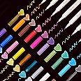 EKKONG Marqueur Métallique Pens, 20 Couleurs Métalliques Assorties Marqueurs Métallique Stylos pour DIY Carte, Album Photo, S