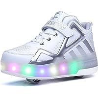Scarpe LED Luce Unisex per Ragazze Bambini,Scarpe per Pattini a Rotelle a LED,Luce 7 Colore-Doppie Singole Ruote,da…