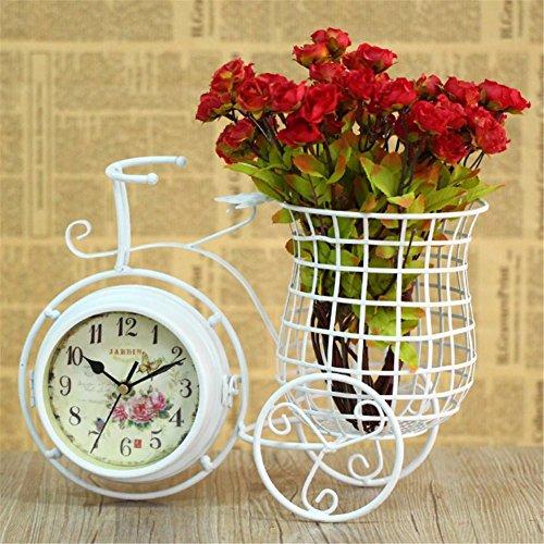 Mode kreative moderne Uhr Kunst Fahrrad Uhr Garten duplex mute Duplex-digital-lcd