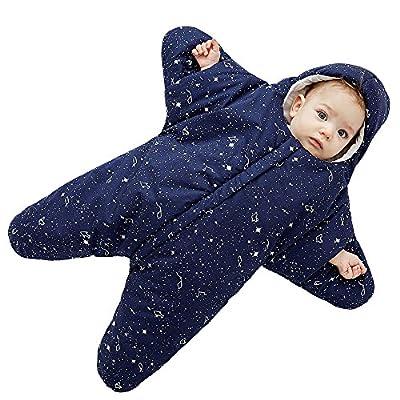 Bebé Saco de dormir 0-8 Meses Personalizado Diseño Forma de estrella Cremallera Frente