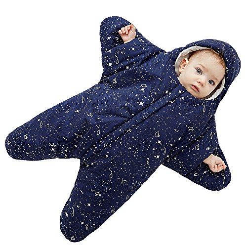jährig 0-8 Monate Personalisierte Entwurf Sternform Reißverschluss Frontseite Blau (Mädchen Personalisierte Schlafsack)
