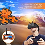 MakerStack 5.8Ghz Mini FPV Goggles 3 Inch 40CH FPV Video Headset Glasses with Double RP-SMA Antenna and Handbag Built-in 1200mAh Battery for FPV Racing Drone Quadcopters