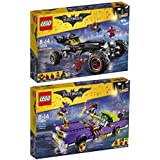 The Lego Batman Movie 2er Set 70905 70906 Das Batmobil + Jokers berüchtigter Lowrider
