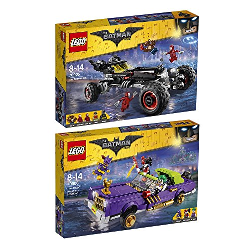 Preisvergleich Produktbild The Lego Batman Movie 2er Set 70905 70906 Das Batmobil + Jokers beruchtigter Lowrider