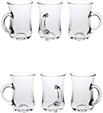 Somil Beer Mug Glass Set New Look Attractive Design and Transparent with Handle (Set of 6) Multipurpose Usable