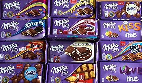 Milka Alpine Chocolate Full Box 20 Bars 100g - All Flavours! (Alpine Milk)