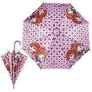 Winx Club - ombrello per bambini automaticaColore della copertura: rosaMateriale della copertura: 100% PoliestereLunghezza: 60 cmDiametro: 72 cm caAutomatico: un pulsante per l'aperturaAttenzione del produttore:Articolo c'è giocattolo!Non ada...