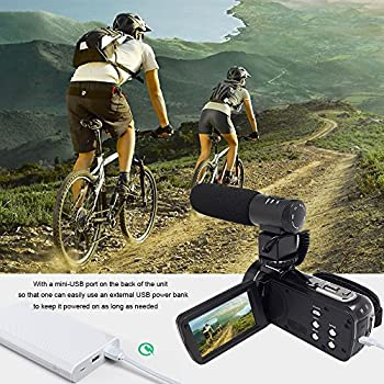Camera Camcorders,camking Hdv-301m 1080p 16x Digital Zoom 3 Inch Touch Screen Lcd Video Camcorder With External Microphone 5