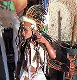 Federhaube Indianer Kopfschmuck coiffe indienne Real Feather war bonnet Real Feathers Headdress Chief War bonnet Real Fe