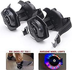 Wembley Toys Street Gliders Roller Skates, LED Light-up Wheels (2 Wheels) (Black)