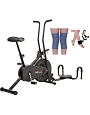 Lifeline Fitness Cycle 102 for Weight Loss at Home   Bundles with Twister, Pushup, Weight Cuff (1 kg) and Knee Cap (Four Way Stretch)