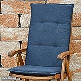Auflagen für Hochlehner 115x48,5 cm SUN GARDEN Rustico 50318-701 in anthrazit ohne Sessel