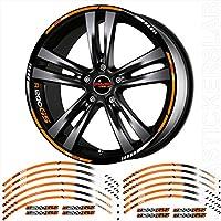 Pegatinas Stickers Moto Moto Pegatinas hilos rayas Rueda Llantas Ruedas BMW R1200GS (Kit 1,