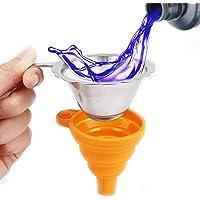 2PCS 3D Accessoires d'imprimantes Pliable silicone Entonnoir Entonnoir pliable en acier inoxydable Résine Filtre pour…