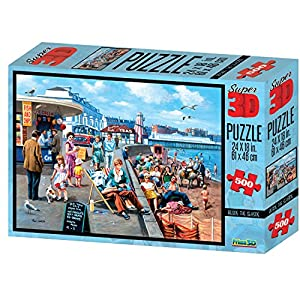 Kevin Walsh kw10018Beside The Seaside Super 3D Puzzles (500Unidades)