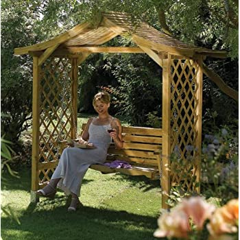 Words... swinging pergola seat