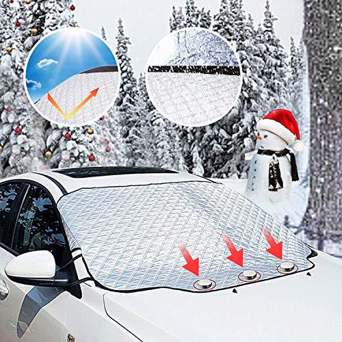 Parabrezza per auto Parabrezza per auto Parasole protezione antipolvere Parapolvere antipioggia Parapolvere antipioggia per tutte le condizioni meteo con due orecchie antifurto