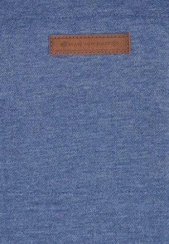 Naketano Brazzo IX W sweat zippé à capuche Blue Melange