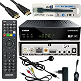 Edision Piccollino S2+T2/C Full HD Satelliten-Kabel-Receiver FTA HDTV DVB-S2/C/T2 (HDMI, AV, USB 2.0,Display,IR-Auge,CA,LAN) Deutsch vorpr.inkl.Wlanabel und HDMI Kabel