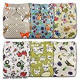 LittleBloom Bébé Tissu Couche Couches Lavables Poches Réutilisable, Fixation: POPPER, Lot De 6