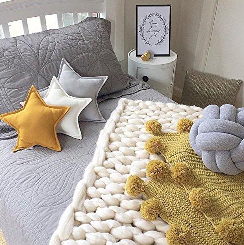 Preisvergleich Produktbild Here&There Baby Decke Teppich Matte Kindedecke Kinderzimmer Schlafzimmer Wohnzimmer Boden Babyzimmer Mädchen Dekoration Spielteppich Handball Ballmatte (Kurkuma, 95*95cm)
