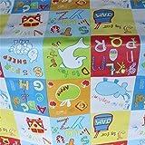 Abwischbares Tischtuch Kinder ABC Alfabet Tier PVC Öltuch