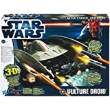 Star Wars 2012 Vehicle - Vulture Droid With 3D Glasses