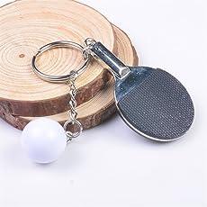 Strollway Cooler und gestalteter Schlüsselanhänger Sport Ping-Pong Schlüsselanhänger Tasche Anhänger Auto Schlüsselanhänger Puppe Schlüsselbund (schwarz)