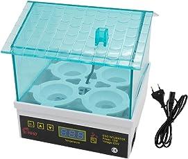 Baoblaze Mini Inkubator Digitaler Automatik Motorbrüter Brutgerät mit Klarer Abdeckung für 4 Eier