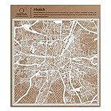 München Scherenschnitt Karte, Weiß 30x30 cm Papierkunst