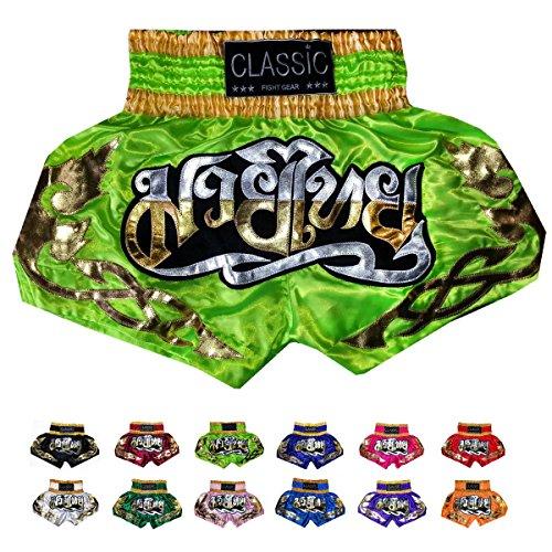 Classic Muay Thai Pantalones Boxeo Tailandes : CLS-003 Talla XL