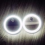 smaart® Luz de aro para selfi para cada móvil | Versión 2017 | 36 lámparas LED para un efecto de aro de luz en las pupilas | Luz de día blanca profesional como usada por los estilistas | 3 niveles de intensidad para selfis perfectos | De batería | Luz de selfi para iPhone 5 5C 6 6S 6Plus 7Plus, Samsung Galaxy S5 S6 S7, Huawei, Sony y muchos más