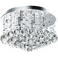 Jago Lampadario a sospensione da soffitto con cristalli ca. 45/45/25 cm con 9 luci classe A++ fino E