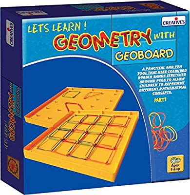 CREATIVE EDUCATIONAL Creative School Geometry with Geoboard from Creative Educational