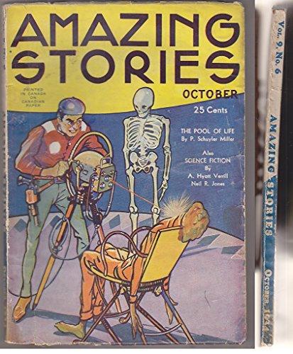 AMAZING STORIES 10 1934 SF Pulp Leo MOREY Schuyler Miller BINDER Jones