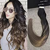 Full Shine 18 Pulgada 20 Piezas 50g Per Package Color Dark Brown #2 Fading to #8 Dip Dye Remy Hair Extensions Double Sided Tape Hair Extensions De Cabello Natural Adhesivas