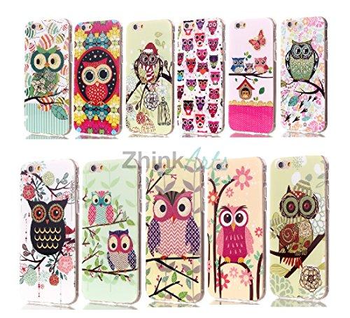 ZhinkArts Eulen Schutzhülle mit verschiedenen Motiven für IPhone & Samsung Handy Case Cover Style Bird Eule Apple IPhone 5/5S Eule M10 Eule M3