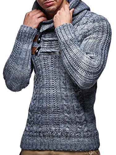 LEIF NELSON   LN6004 Sueter de punto con cuello de bufanda