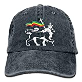WOLCBY NEW hat Funny Caps Rasta Lion of Judah Vintage Washed Dyed Cotton Twill Low Profile Adjustable Baseball Cap