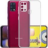 Amazon Brand - Solimo Anti Dust Plug Mobile Cover (Soft & Flexible Back case), for Samsung Galaxy M31 Prime / M31 / F41 (Tran