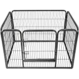 TecTake Parque para mascotas valla libre corriendo jaula para animales rectangular | Tamaño (al. x an. x pr.): 125 x 85 x 70 cm aprox.
